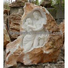 Садовые каменные скульптуры с песчаником из песчаника каменного гранита (SY-X1727)