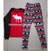 2016 vários projetos de algodão família natal pijama pijama adulto atacado de natal