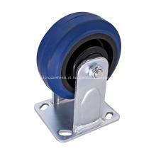 Rodízio rígido resistente rodas de borracha de 5 polegadas