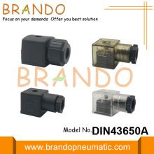 Conector de válvula solenoide de forma A DIN 43650 de 18 mm
