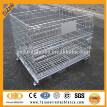 Heavy duty rigid wire container storage cage & wire mesh container