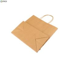 Custom Design Printed Paper Shopping Brown Kraft Bags