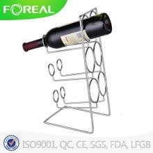 Suporte de vinho de metal de alta qualidade de 6 garrafas