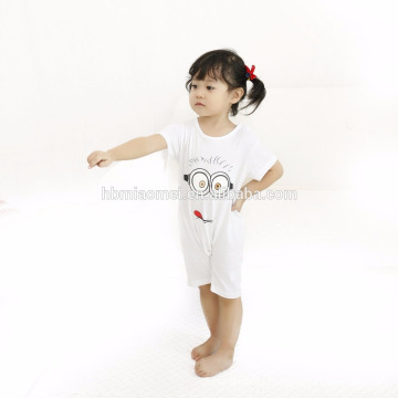 2017 baby clothes summer wholesale bulk short sleeve baby clothes romper organic cotton