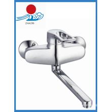 Смеситель для смесителей из хромированной хромированной посуды с одной ручкой Весенний смеситель для воды (ZR21103)