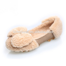 Lovely women casual shoes winter shoes with big bowtie