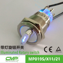 CMP 19mm led Interruptor rotativo iluminado metal