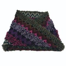 Hiver unisexe de couleur mélangée de couleur chaude imprimant le snood de boucle tricoté lourd (SK176)