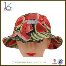 cores simples moda melancia chapéus sol máscara cap