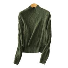 Frauen kurze pullover halb rollkragen 100% reine kaschmir stricken einfarbig 3GG dicke pullover pullover