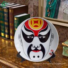 Plaques en porcelaine en céramique décoratives en Chine