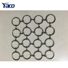 Tela de malla de metal flexible popular, cortina de malla de metal, malla de alambre decorativa