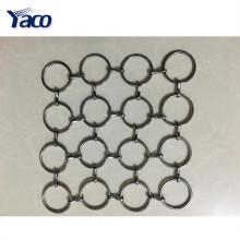Tissu en maille métallique flexible populaire, rideau en maille en métal, treillis métallique décoratif