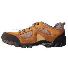 Zapatillas de deporte impermeables de malla de cuero de alta calidad (CA-06)
