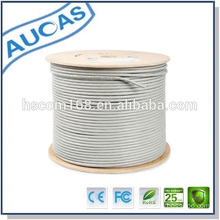 Light Grey Solid bare copper cat6 24 awg cabel cat5 and d-link cat6 cable making machine with amp cat6 patch cord