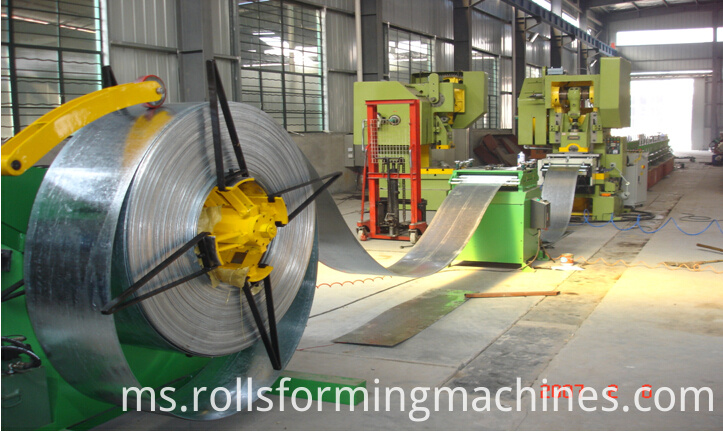Whole line of cable tray machine