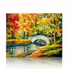 2015 Brook paisaje pintura al óleo sobre lienzo, lona de arte de la pared Dropship