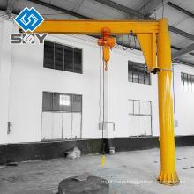 Column mounted electric crane