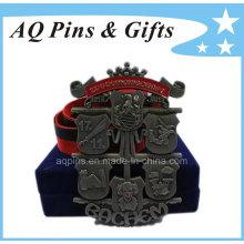 Medalha de placa personalizada com fita