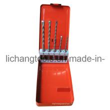 Jeu de forets 5PCS avec boîtier en métal de couleur