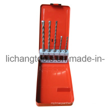 5PCS Drill Bit Set with Colour Metal Case