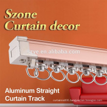 2015 newest design drapery hardware ceiling metal curtain rail with plastic glider