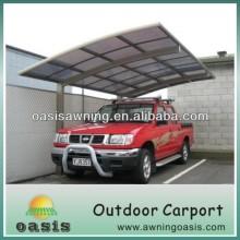 Anti-UV PC board aluminium canopy outdoor aluminum carport