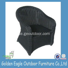 Black Resin Wicker Garden Chair