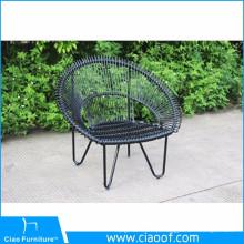 Cadeira de jardim de vime cadeira de pavão de ferro exclusivo