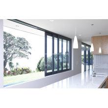 Portes et fenêtres en aluminium à portes coulissantes modernes sectionnelles