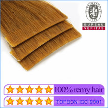 Human Hair Virgin Hair Tape Hair Extensions Factory Supplier Popular New Style 18inch Brown Color Hand-Made Insert Invisiable Hair Remy Hair