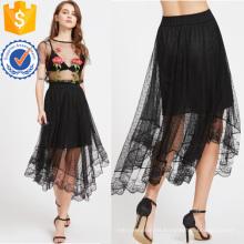 Sheer Dobby Mesh Overlay Skirt Manufacture Venta al por mayor Moda Mujer Ropa (TA3084S)
