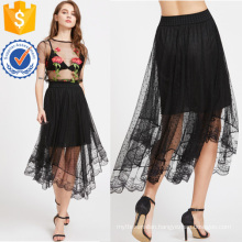 Sheer Dobby Mesh Overlay Skirt Manufacture Wholesale Fashion Women Apparel (TA3084S)