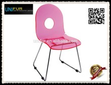 Beautiful best cheap kids plastic chairs with sled steel base