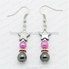 Mode Hämatit Stern Perlen Ohrring