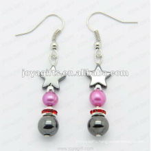 Fashion Hematite Star Beads Earring