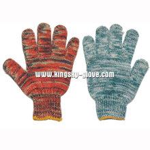 Gant de travail multicolore tricoté en coton 7g-2408