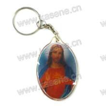 Heißer Verkaufs-Goldlieferant-Plastik Keychain Handgemachtes religiöses