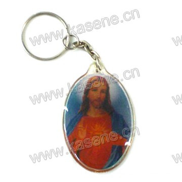 Hot Sale Gold Supplier Plastic Keychain Handmade Religious