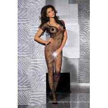 Beautyslove lingerie floral fishnet sexy bodysuit mulheres aberto crotch bodystocking