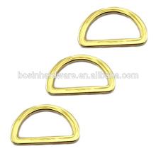 Art- und Weisequalitäts-Metalllicht-Goldpolierendes D-Ring für Beutel