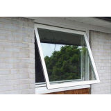 1.6mm Profile Thickness White Aluminum Awning Window For Commercial Building