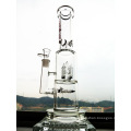 7mm Thickness Rocket Perc Glass Water Pipe with Factory Price