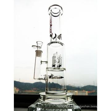 9 mm de espesor de calidad de fumar Pipe Rocket Prec tubo de vidrio de agua Inliner Percolator Hbking Water Pipe
