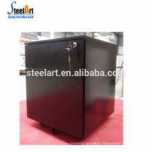 Chaud vendez les meubles de bureau en métal 2 classeurs de tiroir / coffret mobile noir