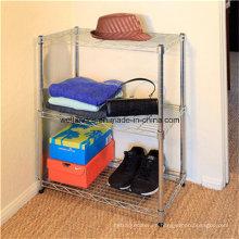Aprobación NSF 3 niveles de alambre de acero de cromo estantería para el hogar