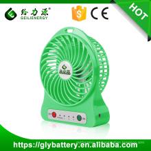 Guangzhou fábrica de alta velocidad 5 V portátil mini usb ventilador con batería