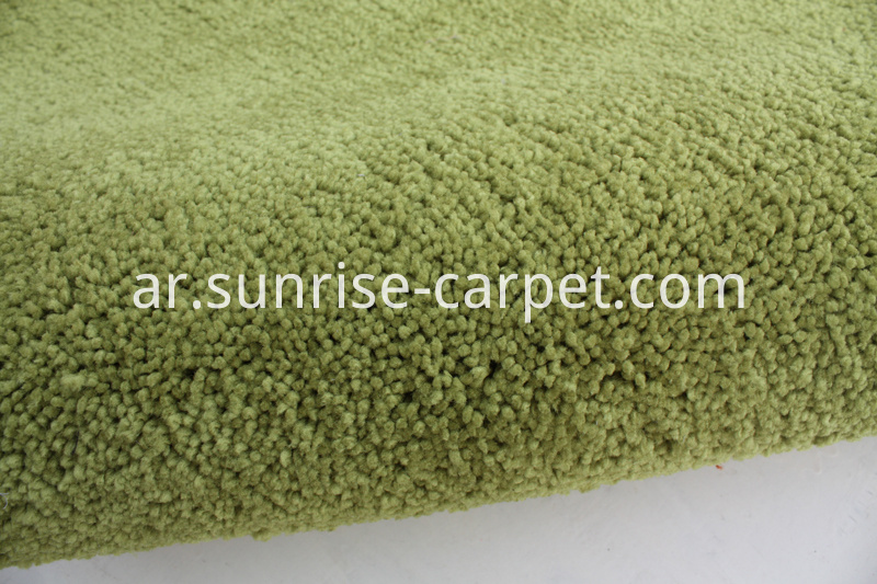 Elastic Polyester Shaggy Rug Green Color