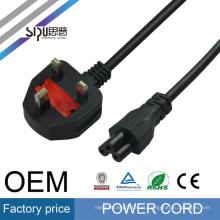 SIPU BS aprobación UK 3pin montado enchufe cable de alimentación 2 pin ac enchufe de cable de alimentación