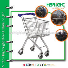 chromed mini size shopping trolley cart for children